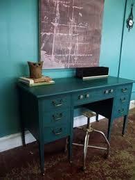 teal dresser gold hardware simple redesign custom furniture