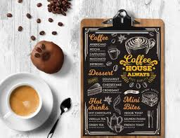 coffee shop menu template menu template for bar barcelona design shop