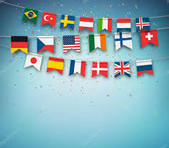 Countries Of The World Flags Colorful Flags Of Different Countries World Garland With