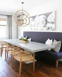 Dining Room Bench Seating Ideas Attractive Dining Room Tables With Bench Seating Ideas And Blue