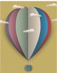 heißluftballon kinderzimmer bastelt bild fürs kinderzimmer heissluftballon 3d covil