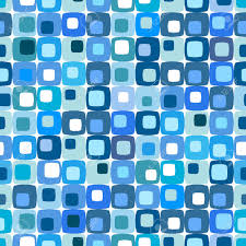 Mid Century Patterns by Retro Blue Square Pattern Tiles In Any Direction Royalty Free