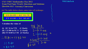csec cxc maths past paper 2 question 1c may 2012 exam solutions