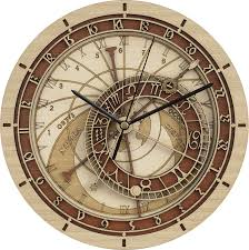 amazon com wooden prague astronomical clock handmade