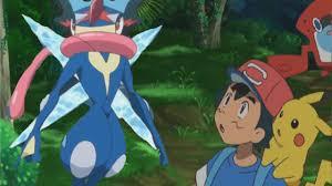 pokemon sun u0026 moon anime ash u0027s greninja returns u0026 meets ash in