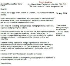 assistant accountant cover letter example forums learnist org