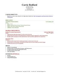 Sample Of Resume With No Work Experience by Sample Resume No Experience High Student Gallery