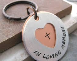 keepsake keychains memorial keychain etsy