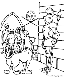 scooby and knight 94df coloring pages printable