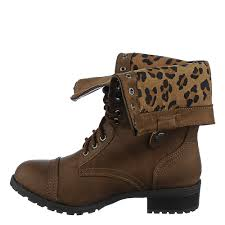 s fold combat boots size 11 shiekh oralee s s brown leopard fold combat boot