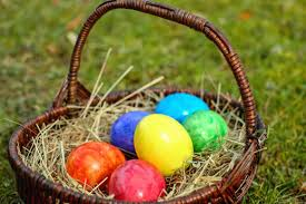 easter basket grass free picture basket egg food colorful colors grass nest easter