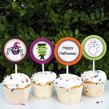 Halloween Cupcakes And Cakes halloween cupcake toppers by that party ghosts and ghouls