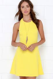 yellow dress yellow dress halter dress a line dress 38 00