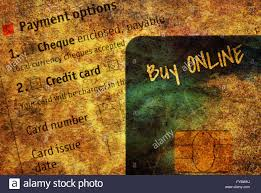 modern worldwide payment option with electronic cards and text buy