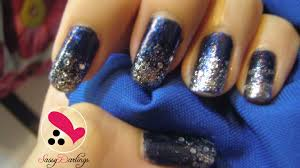 glitter royal blue nails how to remove glitters nail art love