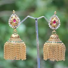 buy jhumka earrings online gold jhumka gold jhumkas online jhumki online pearl jhumkas
