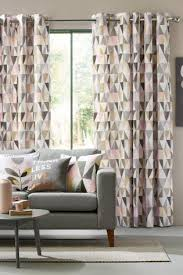 Blush Pink Curtains Geo Prints For The Home Are In As Are Pink And Grey Home