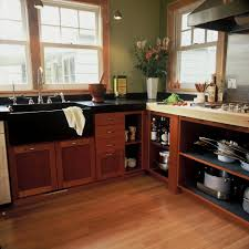 redwood cabinets kitchen eclectic with corner shelves textured