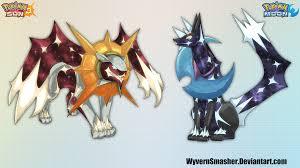 sun and moon legendaries by wyvernsmasher on deviantart