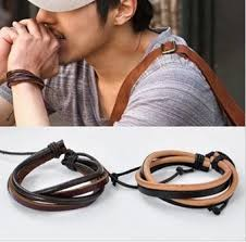 man cuff bracelet images Buy brown leather cuff bracelet leather wrist band wristband jpeg
