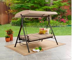 amazon com mainstays 3 seat porch u0026 patio swing tan garden