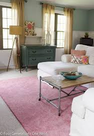 The Pink Rug That Is Rocking Our Family Room Rug Giveaway Four - Family room rug
