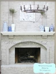 whitewash brick fireplace design ideas idolza