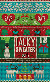 glamorous sweater invitations wording