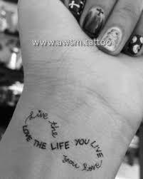 infinity wrist temporary quote