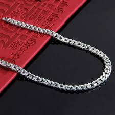 silver necklace chains wholesale images Wholesale 100 real pure 925 sterling silver necklace 7mm link jpg