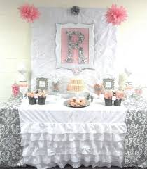 pink and gray baby shower pink grey damask baby shower baby shower party ideas photo 3 of