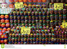 halloween in mexico chocolate skulls for the day of the dead festival in mexico stock