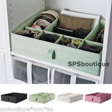 ikea skubb drawer organizer ikea skubb 6 compartments box storage fit pax wardrobe white black