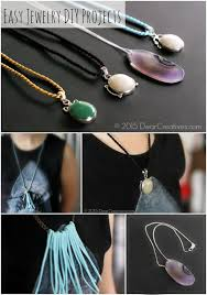 diy stone pendant necklace images Crafts jewelry suede tassel necklace jpg