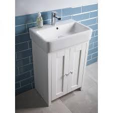 Free Standing Vanity Units Bathroom Lansdown 550 Freestanding Unit Linen White Tavistock Bathrooms