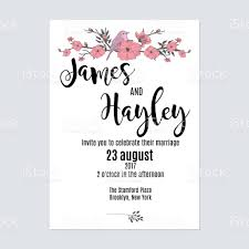 Invitation Card Designing Cute Minimalist With Flowers And A Bird Floral Wedding Invitation