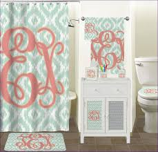 Salmon Colored Shower Curtain Bathrooms Fabulous Shower Window Curtain Coral Colored Shower