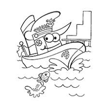 10 boats ships coloring pages