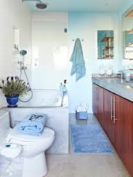 photos hgtv bathroom with bright blue shower tiles idolza spa inspired master bathroom design choose floor plan chic simplicity how to install mosaic backsplash