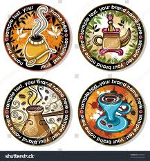 grunge collection drink coasters coffee tea stock vector 62395939