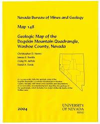 Nevada County Map Geologic Map Of The Dogskin Mountain Quadrangle Washoe County