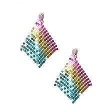 claires clip on earrings rainbow clip on mesh drop earrings s