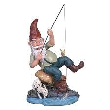 design toscano fishing garden gnome statue reviews wayfair