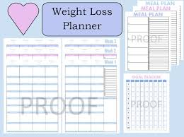 printable weight loss diet chart tone it up journal weight loss planner weight loss tracker