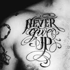 60 strength tattoos for masculine word design ideas