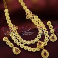 elegant gold necklace designs images Nl5204 multi strand floral diamond design stylish elegant gold jpg
