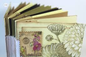 accordion photo album mini accordion book featuring vintage botany club scrap