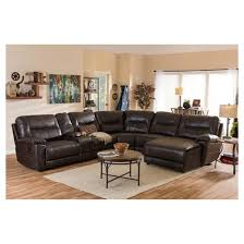 mistral modern and contemporary bonded leather 6 piece sectional