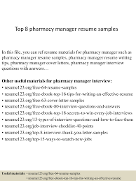 cover letter pharmacy top8pharmacymanagerresumesamples 150408075937 conversion gate01 thumbnail 4 jpg cb u003d1428498021