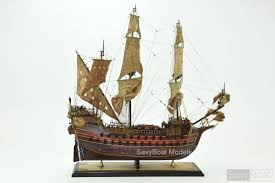 Authentic Pirate Flag Jolly Roger Pirate Ship Handcrafted Wooden Model Ship High Quality